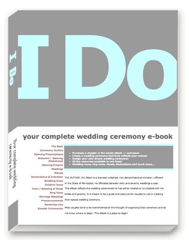 I Do wedding ceremony e-book
